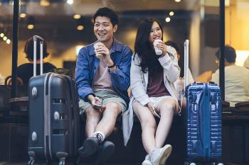 Couple at Airport Traveling